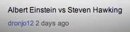 Einstein vs Stephen Hawking Suggestion