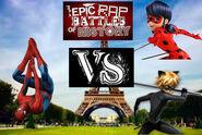 Spiderman vs ladybug