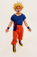 Goku Super Saiyan Pose Behind the Scenes