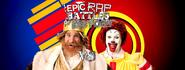 Ronald McDonald vs The Burger King Facebook Banner