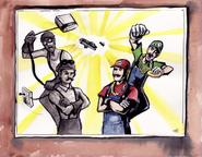 Mario Bros vs Wright Bros Drawing