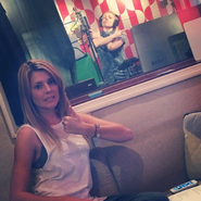 Hannah Hart and Grace Helbig in studio