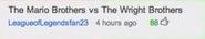 Mario Bros vs Wright Bros Suggestion