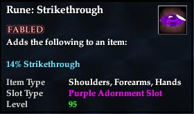 Rune: Strikethrough (92, purple, Fabled)