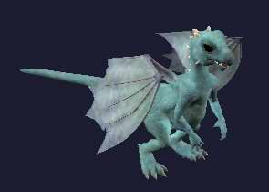 A blue and aqua baby dragon