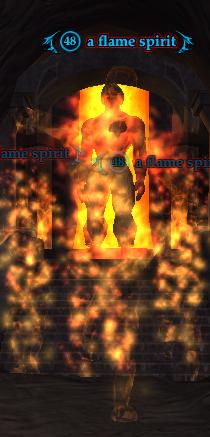 A flame spirit