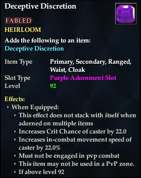 Deceptive Discretion (92, Heirloom, purple, Fabled) (Crate Reward)