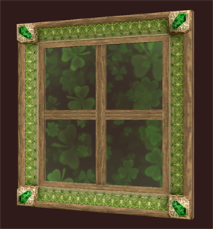 Square Lucky Streak Window Pane