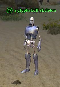 A glyphskull skeleton