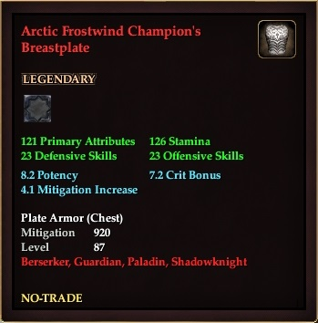 Arctic Frostwind Champion's Breastplate
