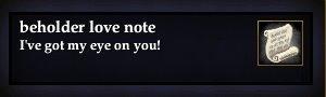 Beholder love note