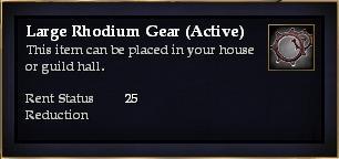 Large Rhodium Gear (Active)
