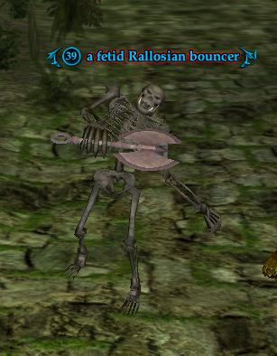 A fetid Rallosian bouncer