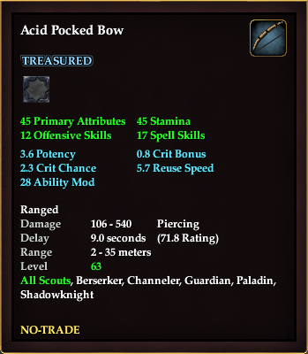 Acid Pocked Bow (Level 63)
