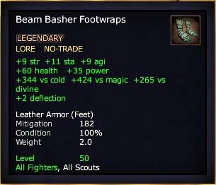 Beam Basher Footwraps (Level 50)