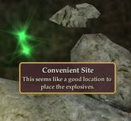 Location for explosives