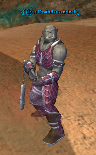 A Deathfist sentinel (Clefts of Rujark)