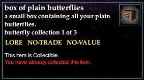 A box of plain butterflies