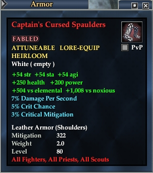 Captain's Cursed Spaulders