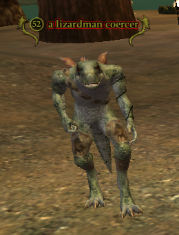 A lizardman coercer