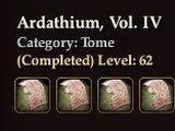 Ardathium, Vol. IV
