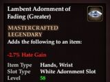 Lambent Adornment of Fading (Greater)