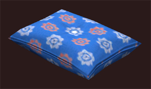Patterned Blue Pillow