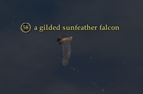 A gilded sunfeather falcon