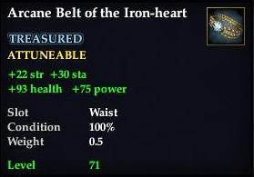 Arcane Belt of the Iron-heart