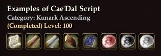 Examples of Cae'Dal Script