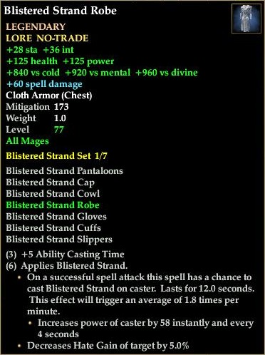 Blistered Strand Robe (Level 77)