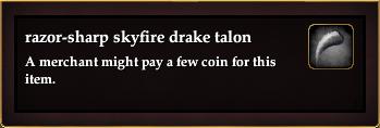 Razor-sharp skyfire drake talon (Version 1)