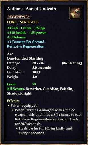 Anilom's Axe of Undeath (Level 80)