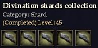 Divination shards collection