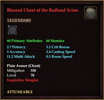 Blessed Chest of the Badland Scion (Level 78)