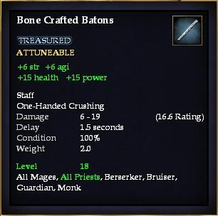 Bone Crafted Batons