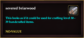 Severed briarwood