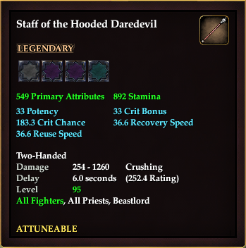 Staff of the Hooded Daredevil