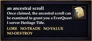 An ancestral scroll