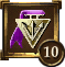 Icon Achievement purple triangle medal 10.png