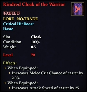 Kindred Cloak of the Warrior (Version 1)