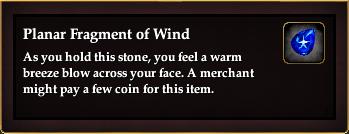 Planar Fragment of Wind
