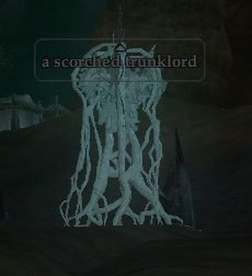A scorched trunklord
