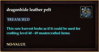 Dragonhide leather pelt (Crate Reward)
