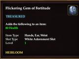 Flickering Gem of Fortitude
