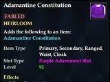 Adamantine Constitution