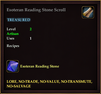 Esoteran Reading Stone Scroll