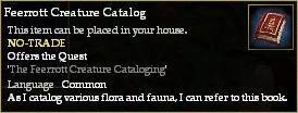 Feerrott Creature Catalog (House Item)