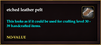 Etched leather pelt (Version 6)