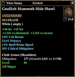 Gnollish Mammoth Hide Shawl